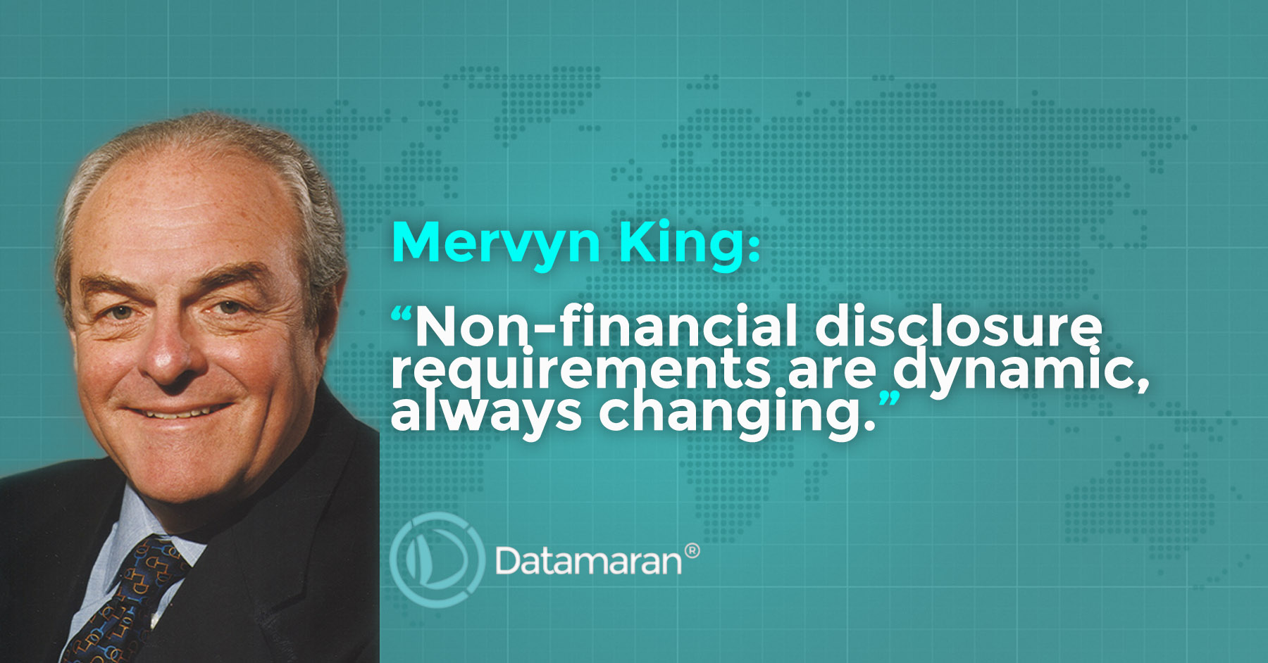 "Mervyn King: ""non-financial disclosure requirements are dynamic, always changing"""