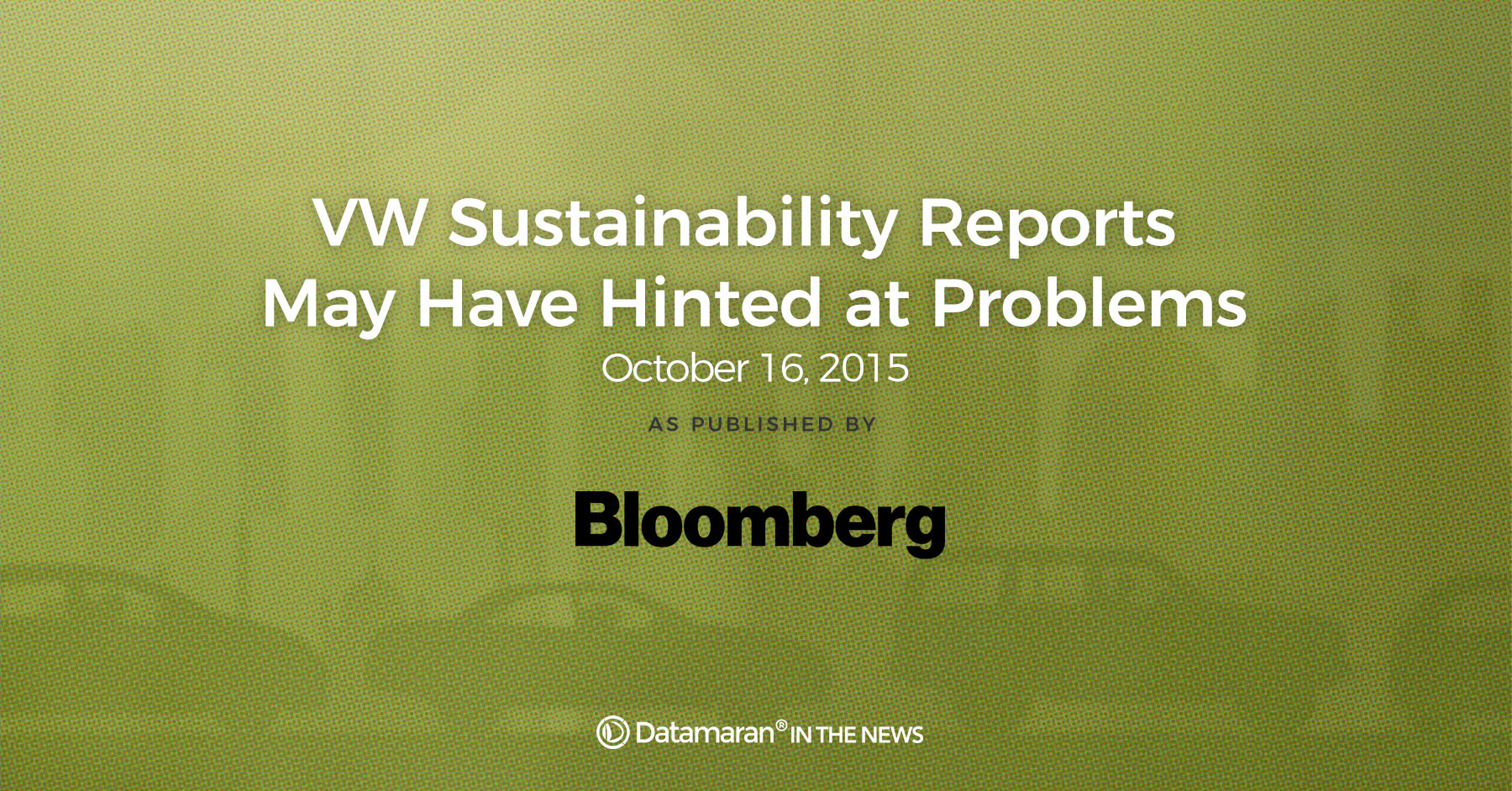 VW sustainability reports