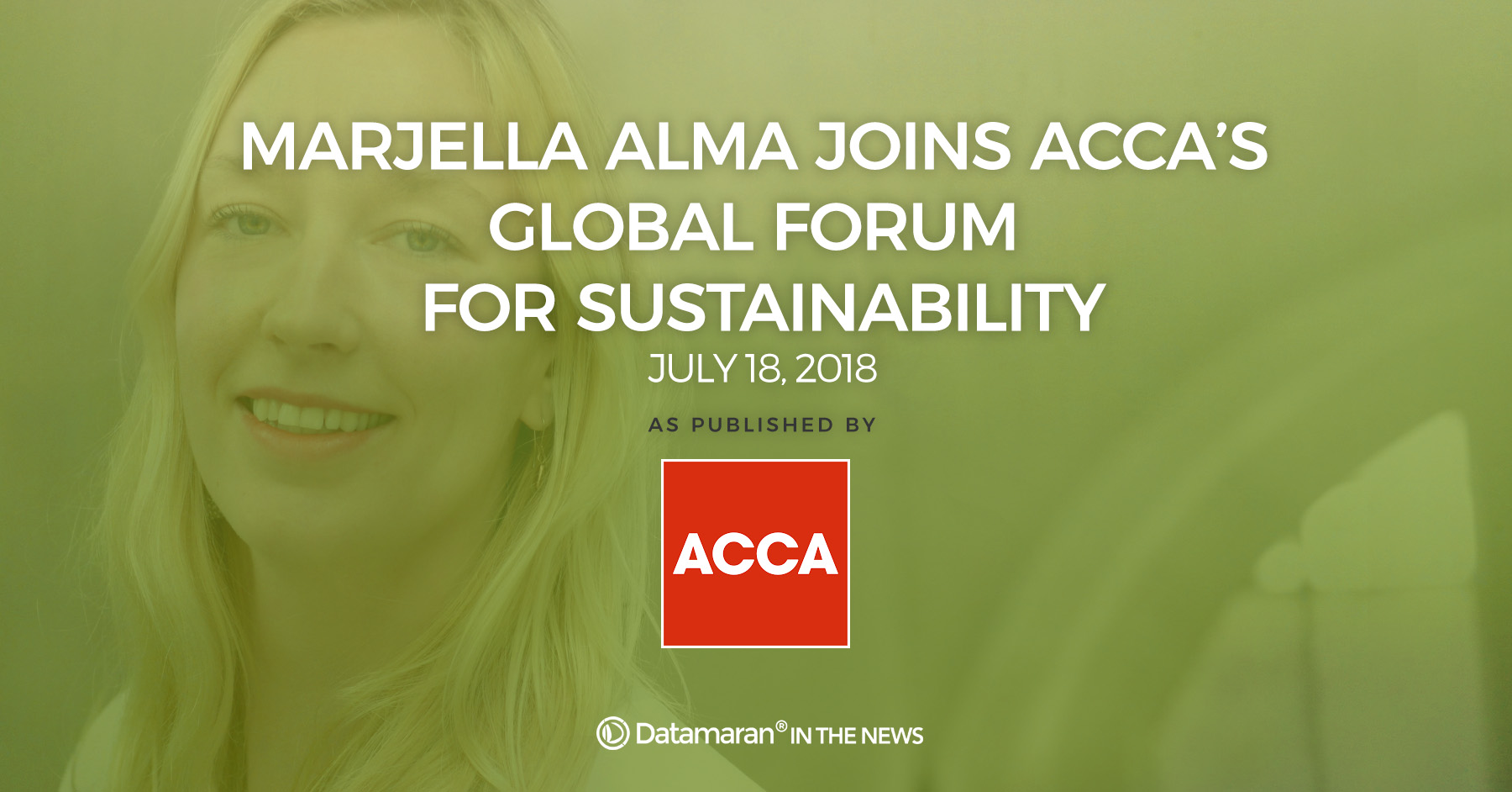 Marjella Alma joined ACCA's Global Forum for Sustainability