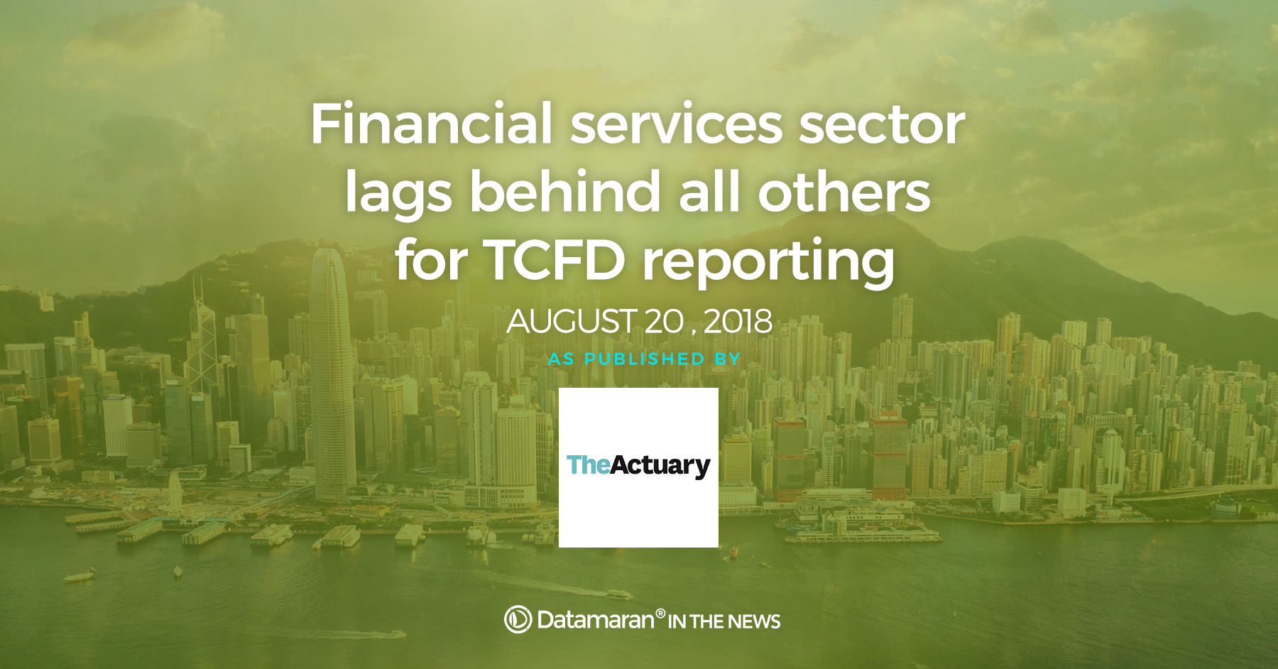 TCFD reporting, financial sector lags behind