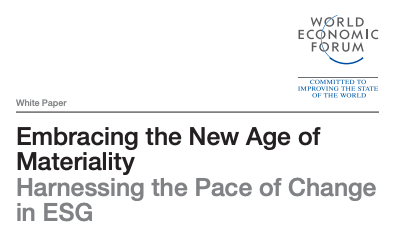 Leading in the New Age of Materiality: What the WEF paper doesn't say